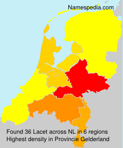Surname Lacet in Netherlands