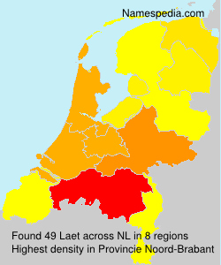 Surname Laet in Netherlands