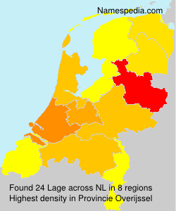 Surname Lage in Netherlands