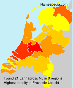 Surname Lahr in Netherlands