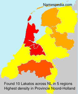 Surname Lakatos in Netherlands