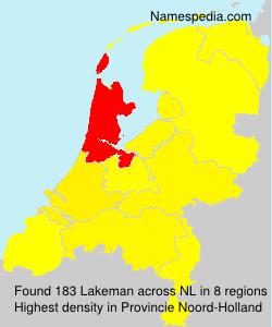 Surname Lakeman in Netherlands