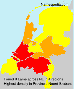Surname Lame in Netherlands