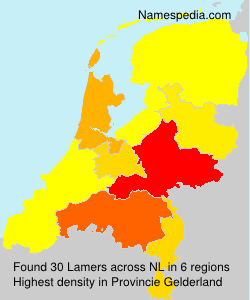 Surname Lamers in Netherlands