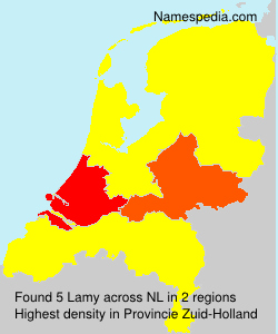 Surname Lamy in Netherlands