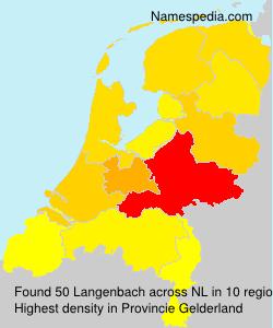 Surname Langenbach in Netherlands