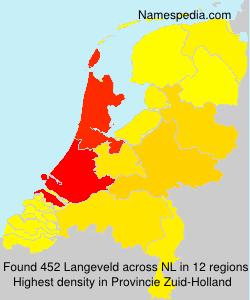 Surname Langeveld in Netherlands