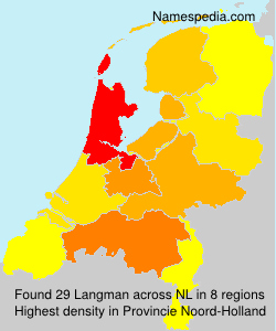 Surname Langman in Netherlands