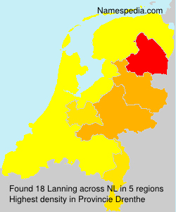 Surname Lanning in Netherlands