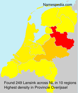 Surname Lansink in Netherlands