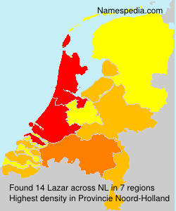 Surname Lazar in Netherlands