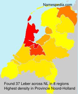Surname Leber in Netherlands