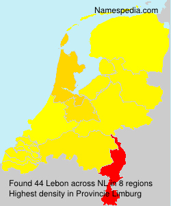 Surname Lebon in Netherlands
