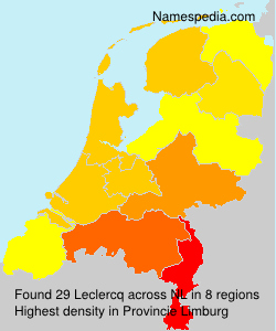 Surname Leclercq in Netherlands