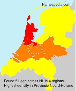 Surname Leep in Netherlands