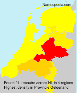 Familiennamen Lepoutre - Netherlands