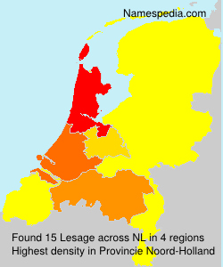 Surname Lesage in Netherlands