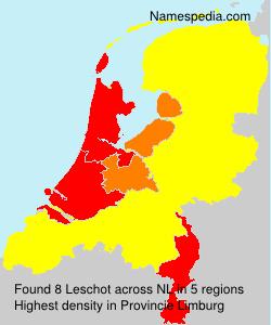 Familiennamen Leschot - Netherlands