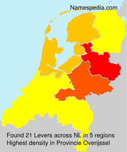 Surname Levers in Netherlands
