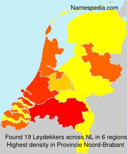 Surname Leydekkers in Netherlands