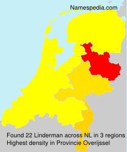 Surname Linderman in Netherlands