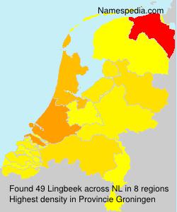 Surname Lingbeek in Netherlands