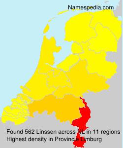 Surname Linssen in Netherlands