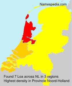 Surname Loa in Netherlands