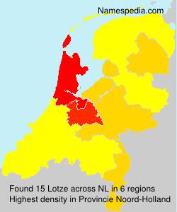 Surname Lotze in Netherlands