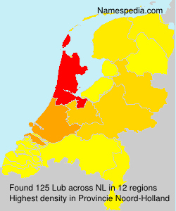 Surname Lub in Netherlands