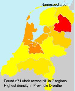 Surname Lubek in Netherlands