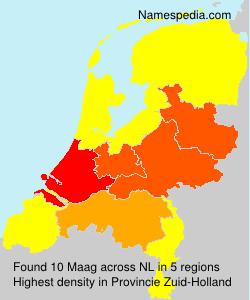 Familiennamen Maag - Netherlands