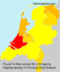 Surname Mac in Netherlands