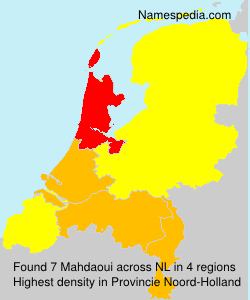 Surname Mahdaoui in Netherlands