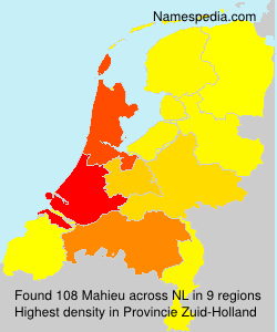 Surname Mahieu in Netherlands