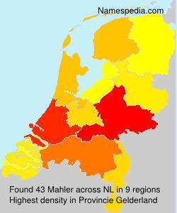 Surname Mahler in Netherlands