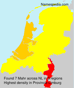 Surname Mahr in Netherlands