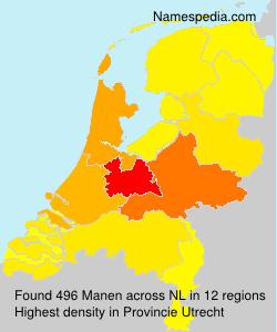 Surname Manen in Netherlands