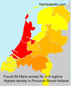 Surname Maria in Netherlands