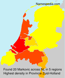 Surname Markovic in Netherlands