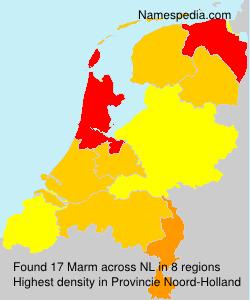 Surname Marm in Netherlands