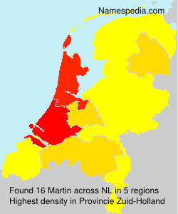 Surname Martin in Netherlands