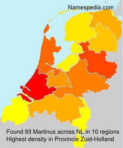 Familiennamen Martinus - Netherlands