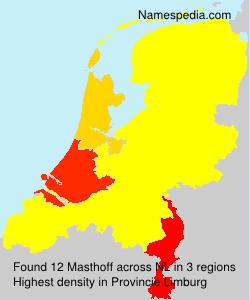 Surname Masthoff in Netherlands