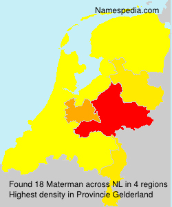 Surname Materman in Netherlands