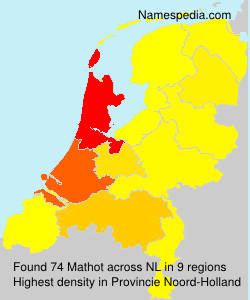 Surname Mathot in Netherlands