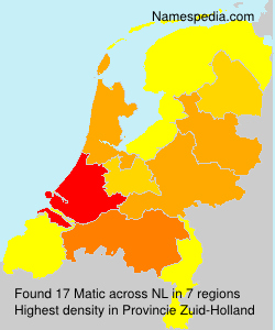 Surname Matic in Netherlands