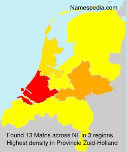 Surname Matos in Netherlands