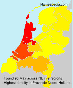 Surname May in Netherlands