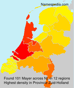 Surname Mayer in Netherlands